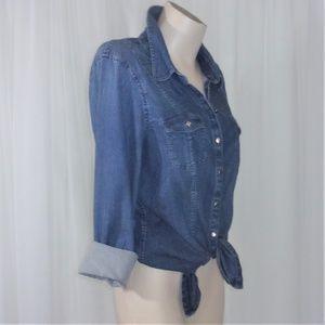 WHBM Light Denim Classic Shirt/Jacket Buttons 12